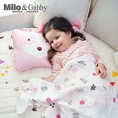 Milo&Gabby動物好朋友-超細纖維防蹣抗菌mini枕心枕套組(JOY狗狗)