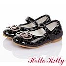 HelloKitty 高級手工超纖皮輕量減壓娃娃童鞋-黑