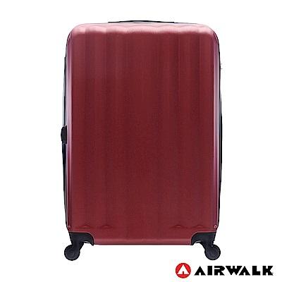 AIRWALK - 海岸線系列 BoBo經濟款ABS硬殼拉鍊28吋行李箱 - 熱點紅