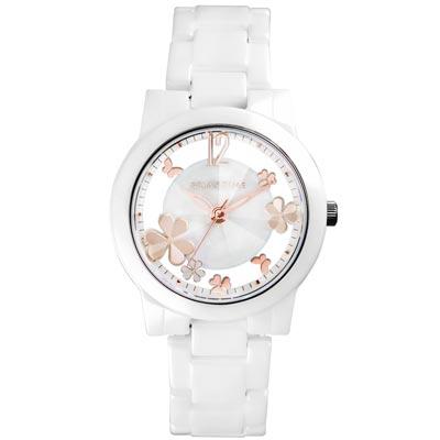 RELAX TIME Garden系列 鏤空陶瓷腕錶 RT-80-2 白X玫瑰金/38mm