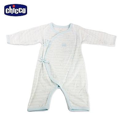 chicco-印花肚衣式兔裝-藍(3-6個月)