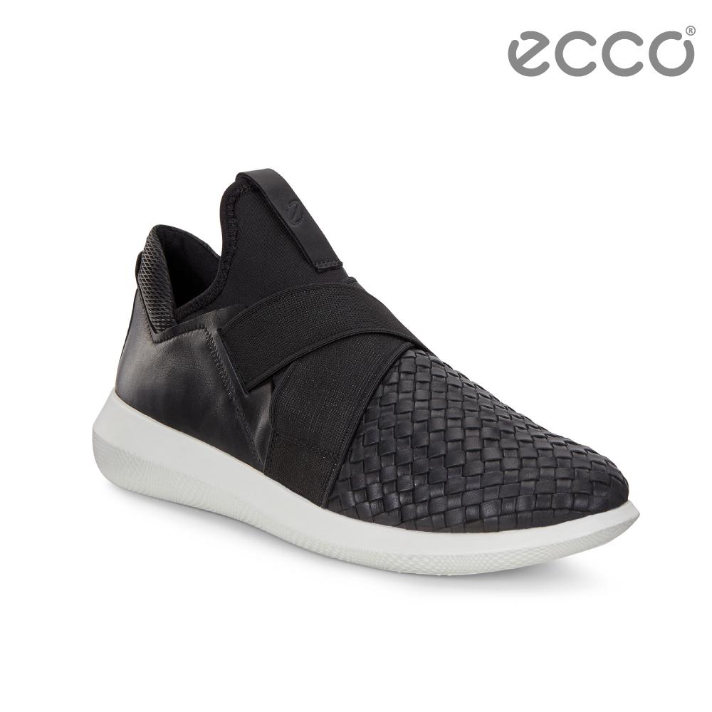 ECCO SCINAPSE W 編織紋套入式休閒運動鞋 女-黑