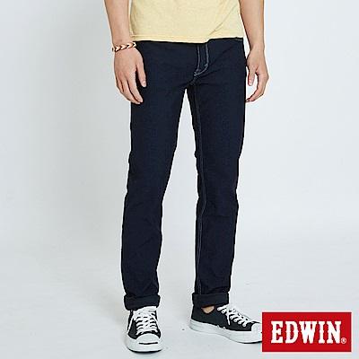 EDWIN JERSEYS 迦績涼感 藍袋花窄直筒牛仔褲-男-原藍色