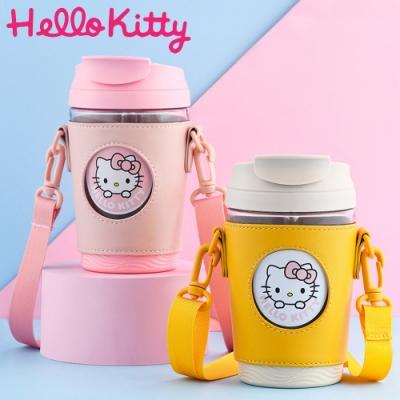 【優貝選】凱蒂貓 HELLO KITTY 吸管式/直飲式 一杯兩用雙飲杯