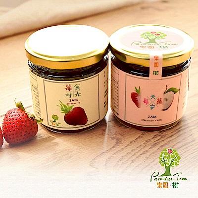 樂園樹‧無農藥草莓果醬-莓好食光+莓天蘋安(共兩瓶)