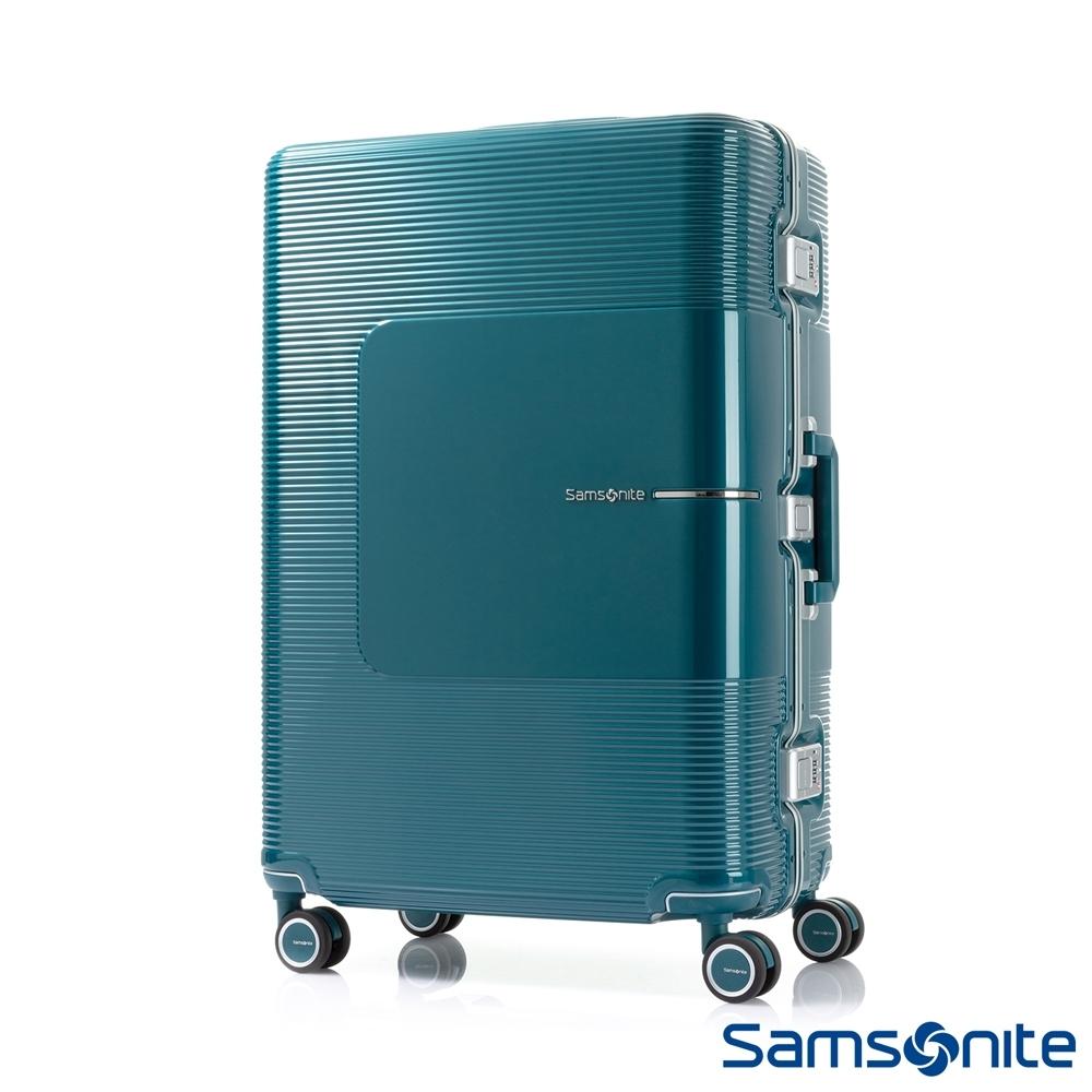 Samsonite新秀麗 25吋Tri-Tech摩登PC鋁框減震輪TSA行李箱(土耳其藍)