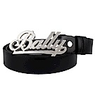 BALLY 金屬字樣釦頭雙面真皮皮帶(110cm)