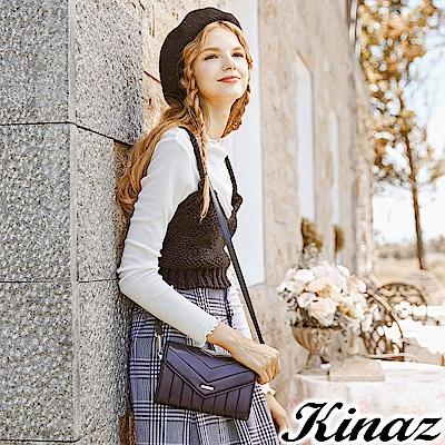 KINAZ 愛戀幾何多用斜背包-華麗黑-城市輕旅系列-快