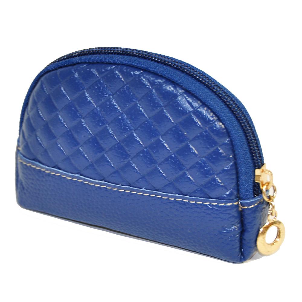Miyo極輕便菱格貝殼造型零錢包(藍)