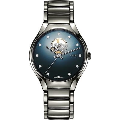 RADO 雷達 True 真系列 高科技陶瓷自動機械腕錶-40mm R27108732