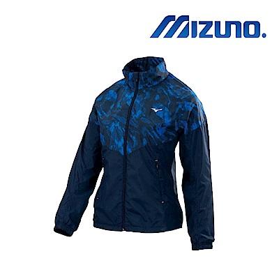 Mizuno 美津濃 女風衣套裝外套 深丈青+藍紋 32TE878214