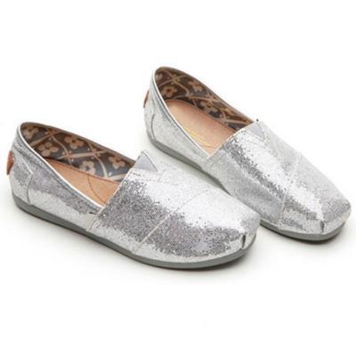 韓國KW美鞋館 (現貨+預購) 絕美經典亮面休閒懶人鞋-銀
