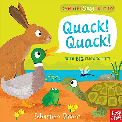 Can You Say It Too?Quack! Quack! 森林動物翻翻書(美國版)
