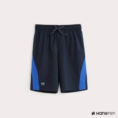 Hang Ten-童裝-ThermoContro-褲邊拼接機能短褲-藍