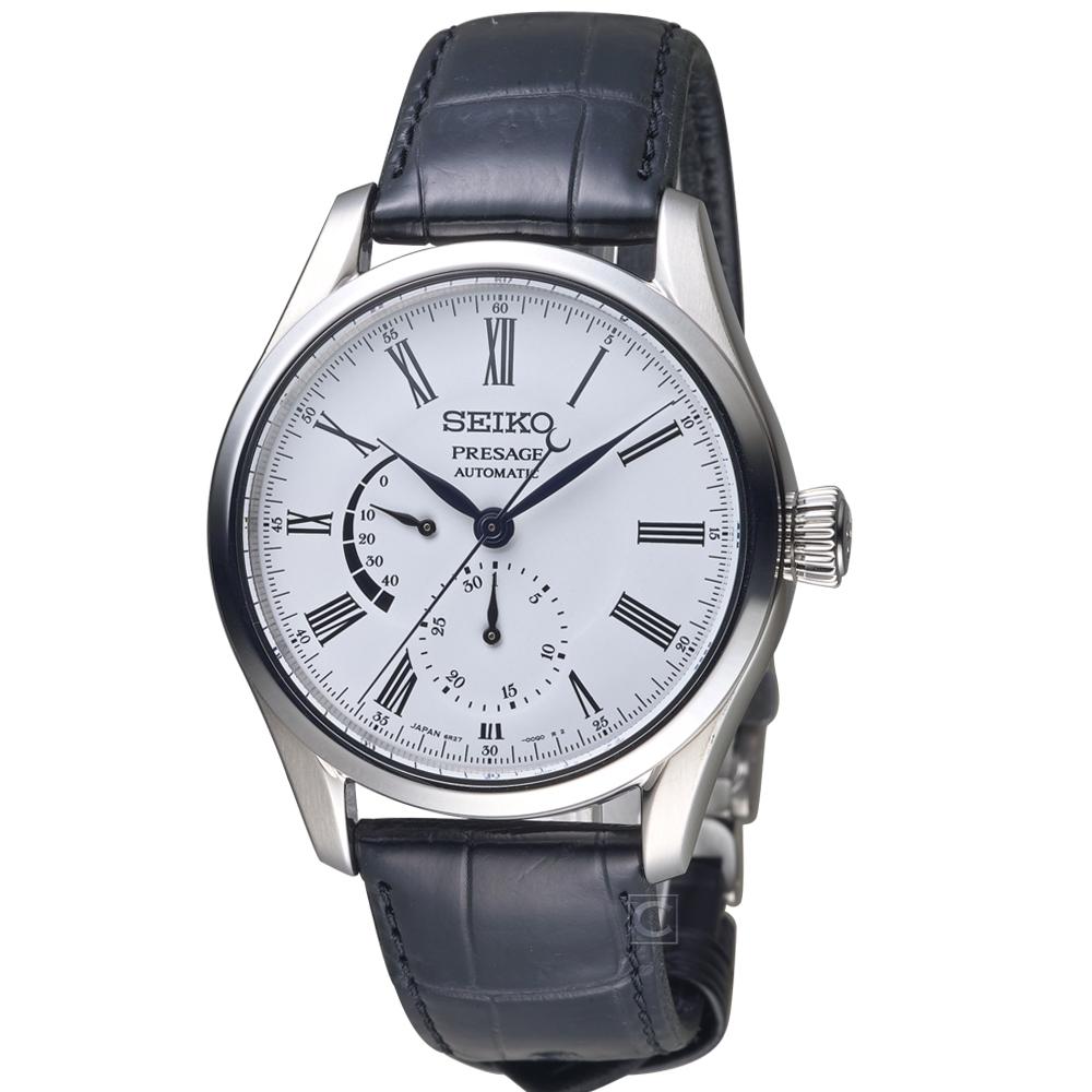 SEIKO精工Presage動力儲存顯示Enamel琺瑯工藝腕錶(6R27-00L0S)