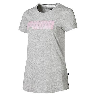 PUMA-女性基本系列KA短袖T恤-淺麻花灰-亞規