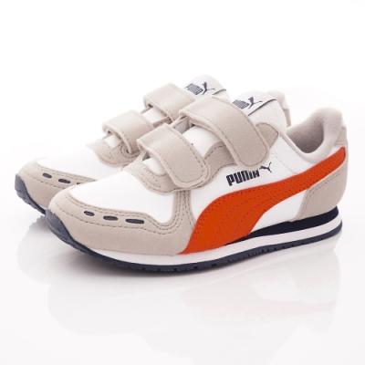 PUMA童鞋 雙絆帶流線鞋款 TH60732-76灰橘(中小童段)