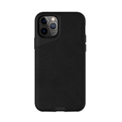 Mous Contour iPhone 11 Pro 天然材質防摔保護殼-墨黑皮革
