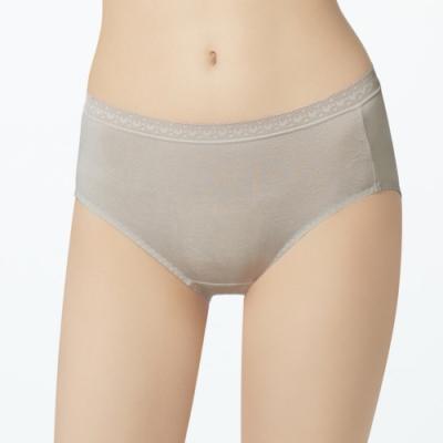 曼黛瑪璉 中腰三角生理褲(雲灰粉)