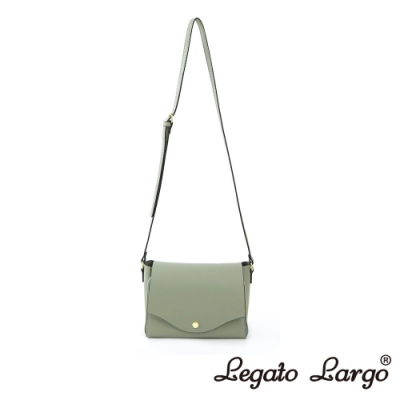 Legato Largo 驚異的輕量化 小法式極簡時尚 兩用皮夾斜背包 薄荷綠