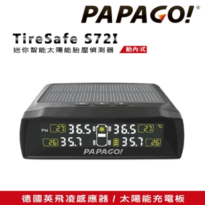 【PAPAGO!】TireSafe S72I 迷你智能太陽能胎壓偵測器