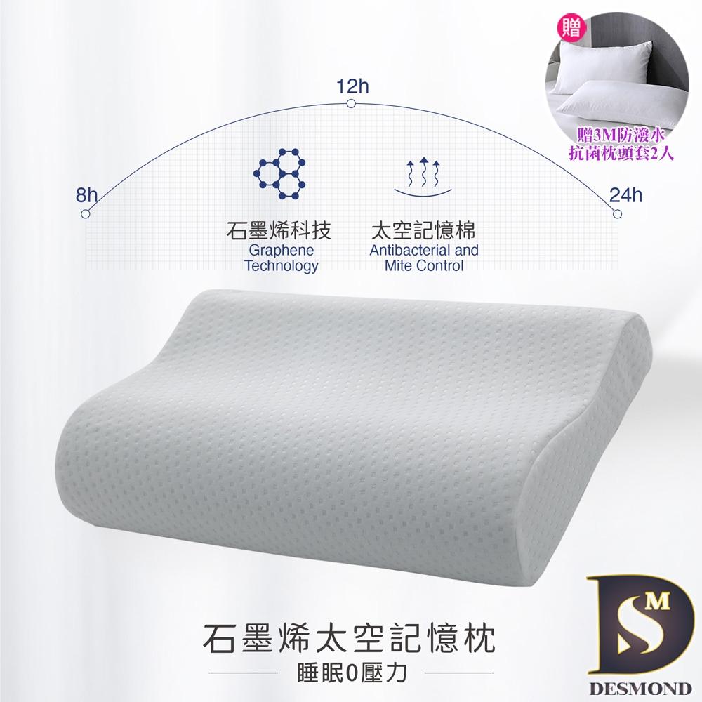 岱思夢 台灣製 石墨烯太空記憶枕1入 人體工學設計 高密度記憶棉 慢回彈 枕頭 枕芯 多款任選