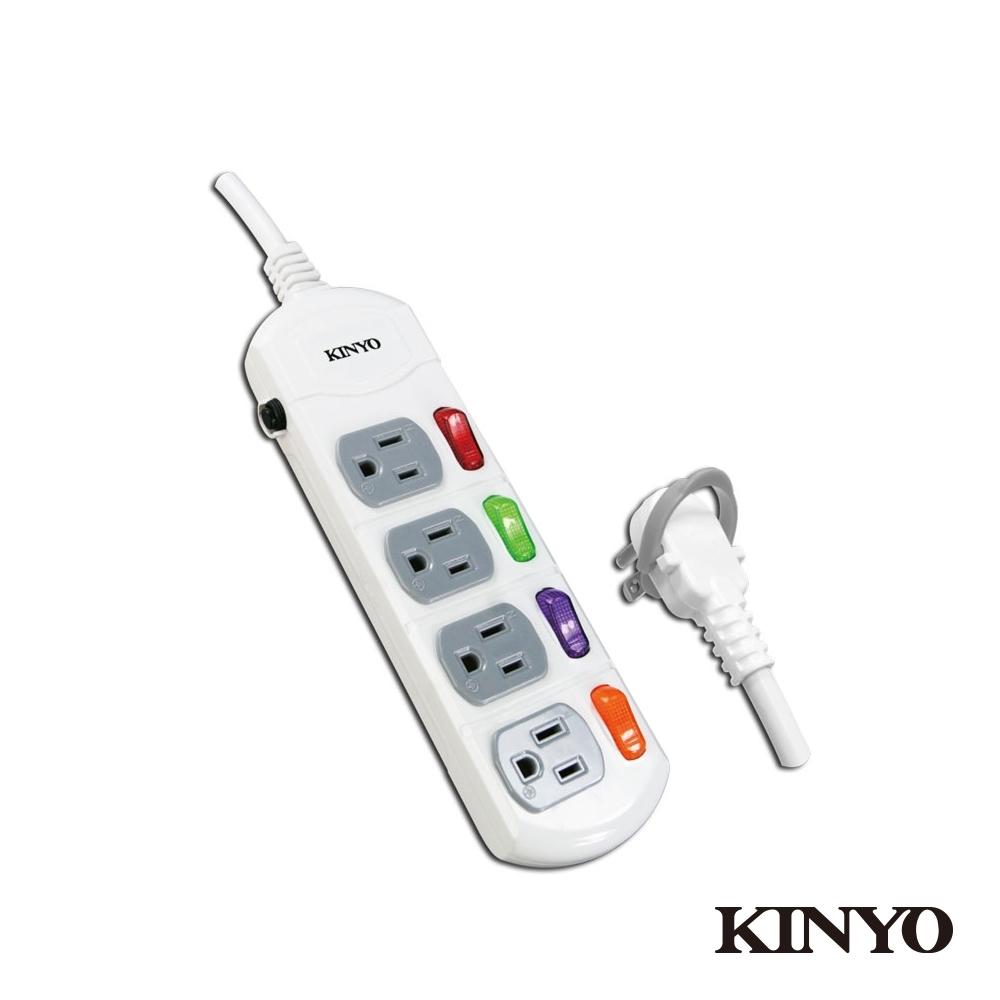 KINYO 4開4插延長線(6尺)CG1446