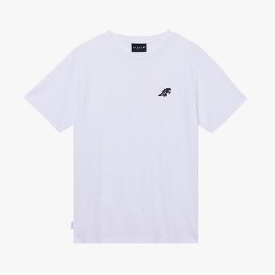 agnes b. - Sport b. 恐龍胸章圓領素色短袖上衣(男)(白)