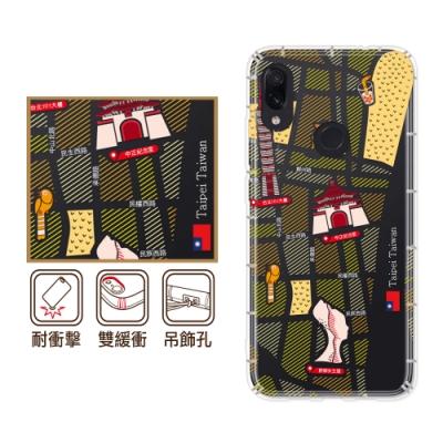 反骨創意 Xiaomi 紅米 Note7 彩繪防摔手機殼 世界旅途-福爾摩沙