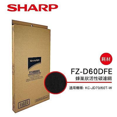SHARP夏普 FZ-D60DFE 蜂巢狀活性碳濾網 適用:KC-JD70/60T-W
