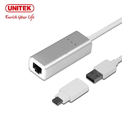 UNITEK Type-C+A有線網卡