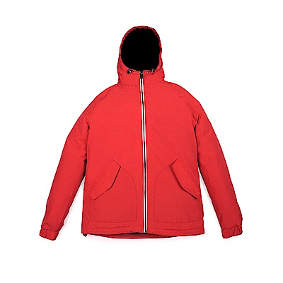 Timberland 男款橘紅色外套防水連帽休閒外套|A1NEL