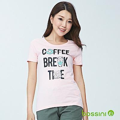bossini女裝-印花短袖T恤01嫩粉