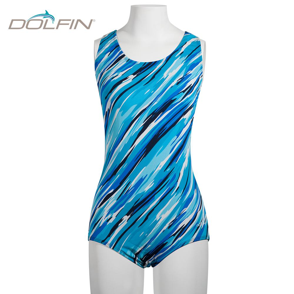 美國DOLFIN 女童連身泳裝 Cascade Turq