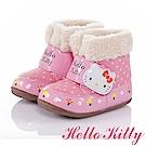 HelloKitty 森林系列 保暖減壓抗菌防臭高筒童靴-粉色
