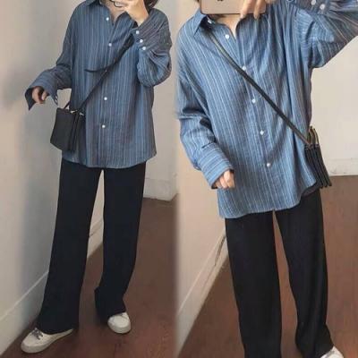 【韓國K.W.】(預購)明星款歐美時尚簡約寬褲-1色
