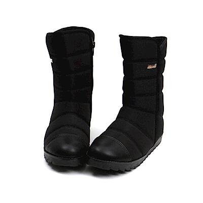 【AIRKOREA韓國空運】正韓超保暖防風鋪棉內鋪毛中筒雪靴-黑