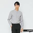 H:CONNECT 韓國品牌 男裝-簡約開扣中山領襯衫-灰