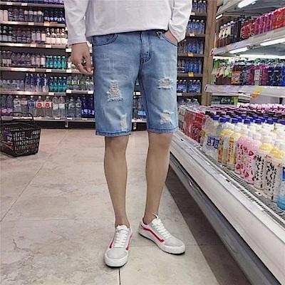BuyGlasses 洗舊抓破水洗牛仔短褲