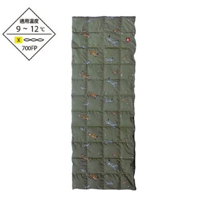 Pajak 波蘭超輕羽絨被/睡袋 野地山貓-橄綠 420g LYNX BLANKET 聯名款