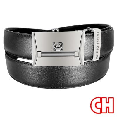 CH-BELT自動扣功能設計紳士休閒皮帶腰帶(黑)