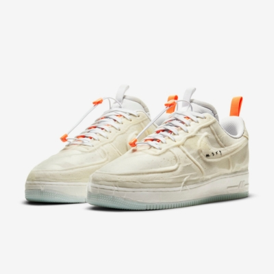 Nike 休閒鞋 AF1 Experimental 男女鞋 經典款 特殊處理鞋面 質感 情侶穿搭 米白 白 CV1754100
