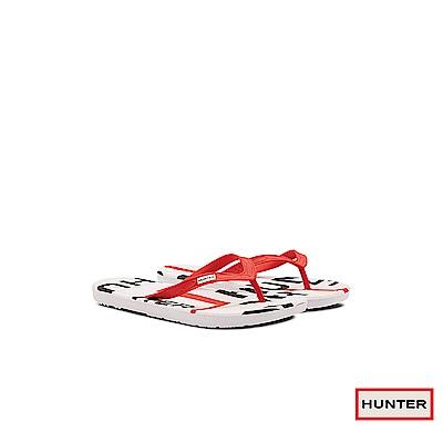 HUNTER - 女鞋-HUNTER夾腳拖 - 紅