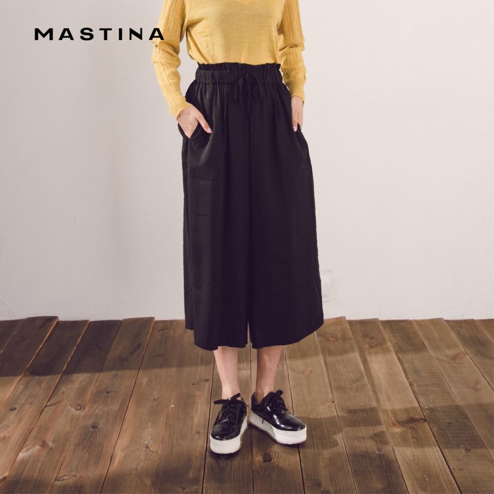 【MASTINA】舒適感綁帶寬版-褲裙(二色)