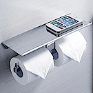 BOSS D-415銅雙筒衛生紙架+置物平台