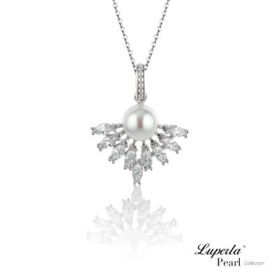 大東山珠寶 純銀晶鑽珍珠項鍊 星河燦燦