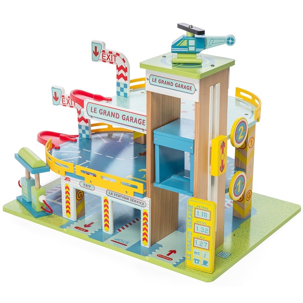 英國 Le Toy Van 小小工程師系列-新世紀複合式加油站大型玩具組