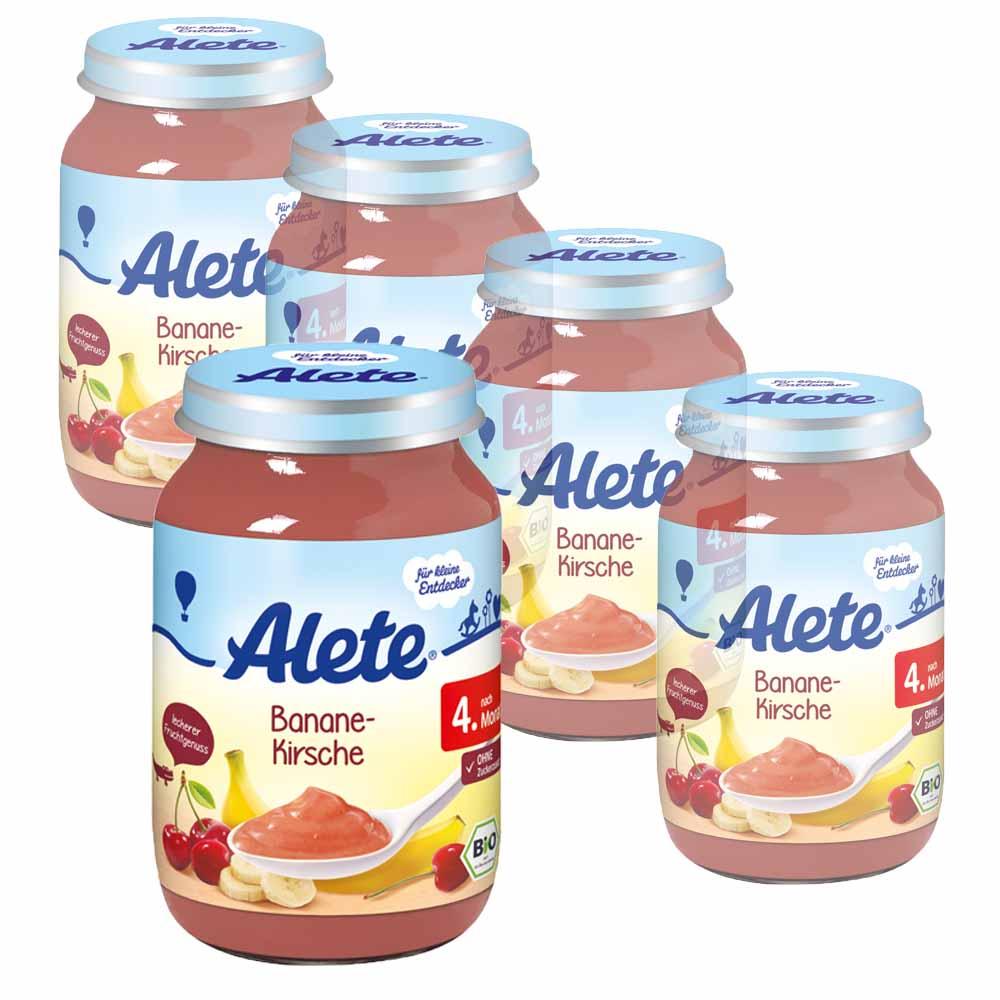 德國Alete-寶寶副食品6+ (香蕉櫻桃果泥) 5入組