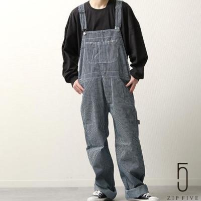 ZIP日本男裝 丹寧寬版連身褲吊帶褲 (3色)