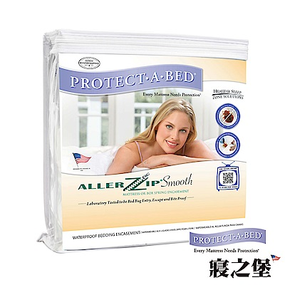 美國寢之堡 防水防螨透氣 極細纖維全密封式床墊套-雙人30